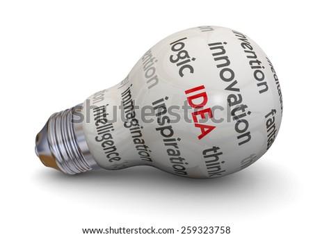 Light Bulb and Idea Concept - stock photo