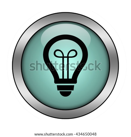 Light bulb button isolated - stock photo