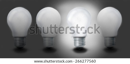 Light bulb chain - stock photo