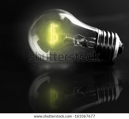 light-bulb dollar sign (energy costs)