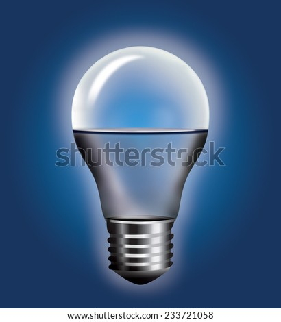 Light bulb half full  - stock photo