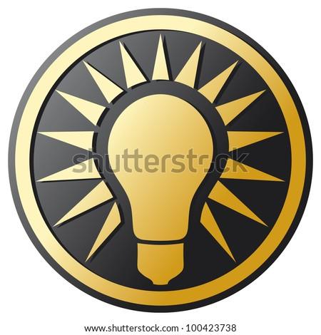 light bulb Icon (button) - stock photo