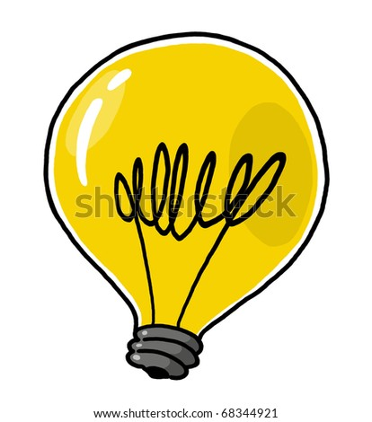 Light bulb illustration; Idea concept
