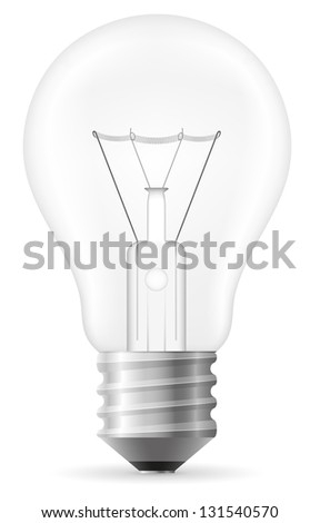 light bulb illustration isolated on white background