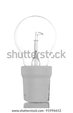 Light bulb in cartridge isolated on white