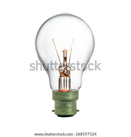 Light bulb isolated - stock photo