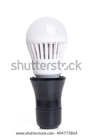 Light bulb isolated on white background. - stock photo