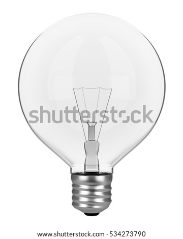 light bulb isolated on white background. 3d illustration