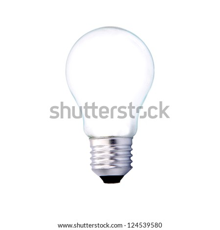 light bulb isolated on white background, household appliances and industry - stock photo
