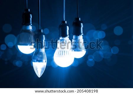 light bulb new generation  - stock photo