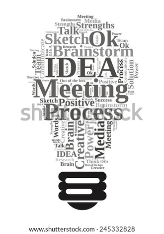 Light bulb of Idea concepts - words cloud - stock photo