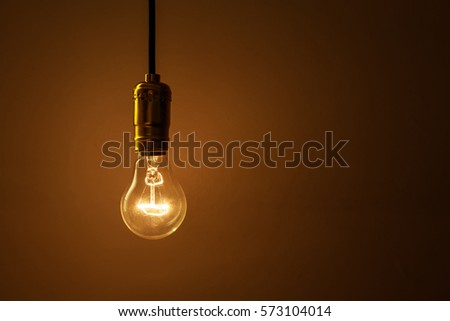 light bulb on dark background