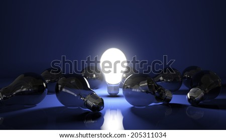 Light Bulb on - High quality render