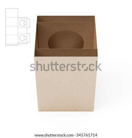 Light Bulb Sleeve Package with Die Cut Template