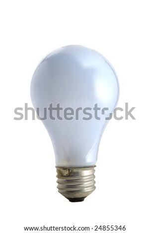 Light bulb studio isolated on white background