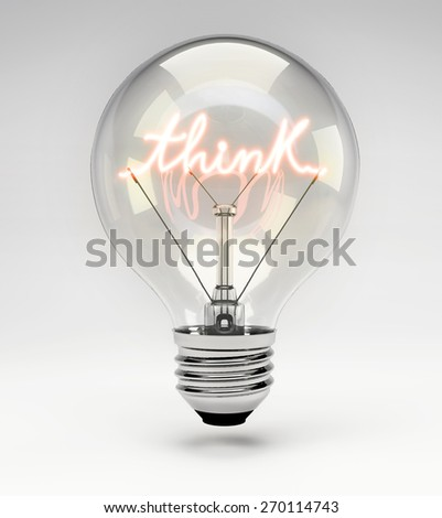 Light Bulb with Realistic Fluorescent Filament - Think Concept (Set)