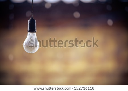 light bulb with vintage background - stock photo