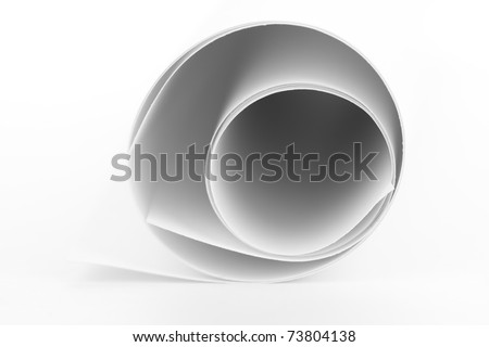 Light-colored paper roll