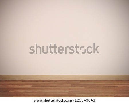 Light corner in interior with shadow - stock photo
