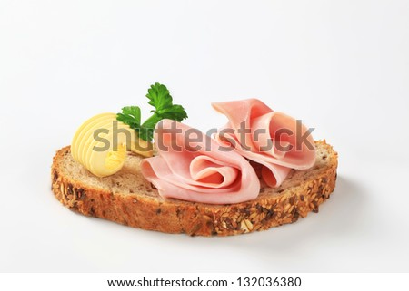 Light dietetic wholemeal appetizer - stock photo