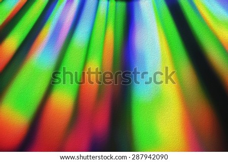 Light diffraction with different filters