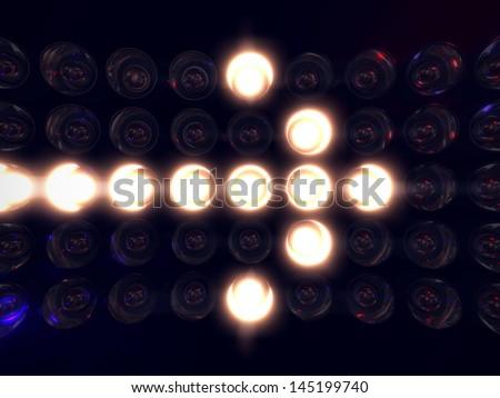 Light display arrow - stock photo