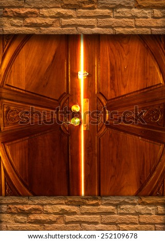 light door bulkhead - stock photo