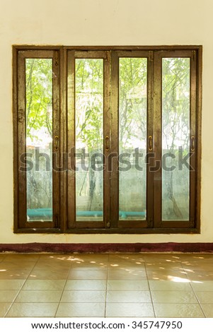 Light effect window, Colorful of window effect, Effect of interiors background.