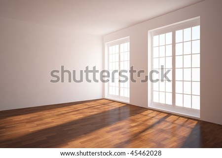 light empty room - stock photo
