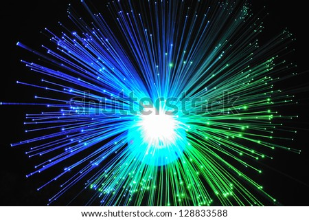 Light  fiber  optics - stock photo