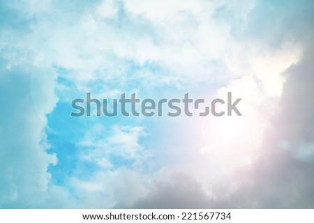 light from heaven - stock photo