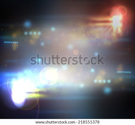 Light from the scene during the concert - stock photo