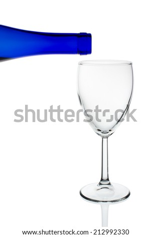 Light glass on a white background, isolated