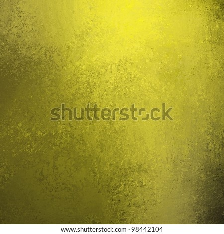 light gold and dark black background wall with vintage grunge paint texture illustration  and yellow highlights in corner of top border and copy space - stock photo