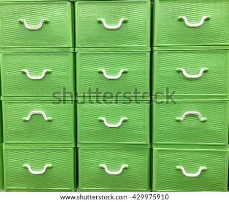 Light green Drawer tray square background - stock photo