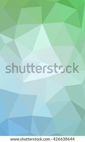 Light green polygonal illustration, which consist of triangles. Triangular design for your business. Geometric background in Origami style with gradient. - stock photo