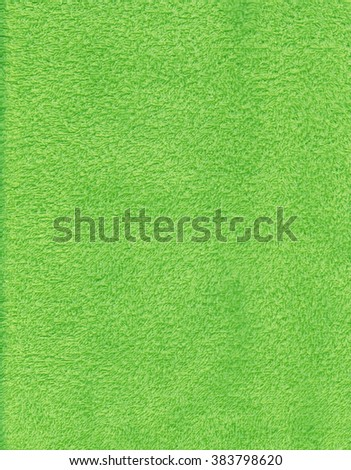 Light green towel texture. Background and texture. - stock photo