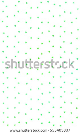 Light Green Yellow abstract colorful background, which consist of triangles. Pattern with colored triangles on white background.