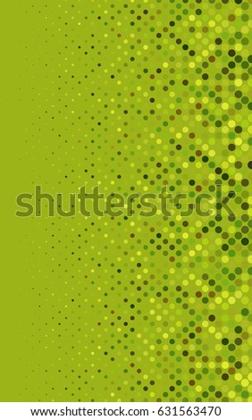 Light Green, Yellow modern geometrical circle abstract background. Dotted texture template. Geometric pattern in halftone style with gradient.