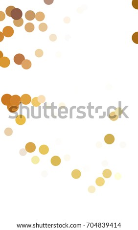 Light Green, Yellow red banner with set of circles, dots. Donuts Background. Creative Design Template. Technological halftone illustration.