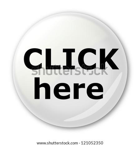 Light grey button - stock photo