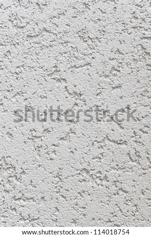 Light Grey Wall Stucco Texture, Detailed Natural Gray Coarse Rustic Textured Background, Vertical Concrete Copy Space - stock photo