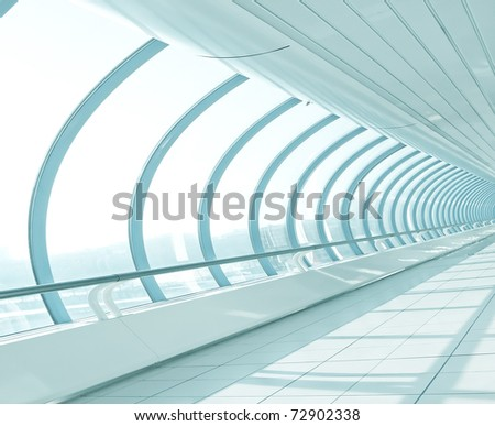 light hall in metro station - stock photo