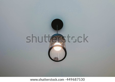 Light hanging decoration in cafe