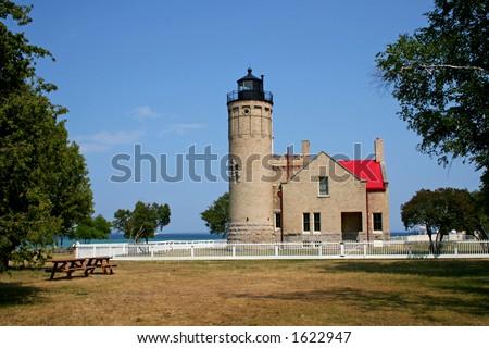 Light house in Michigan - stock photo