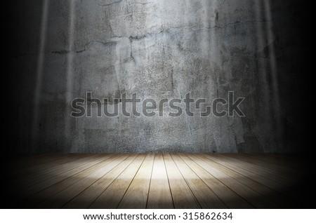 Light in dark room - stock photo