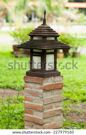 Light in the garden - stock photo