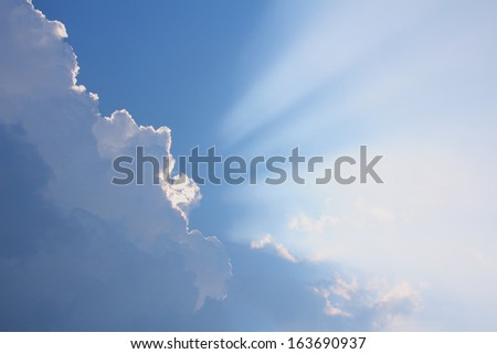Light in the sky, background