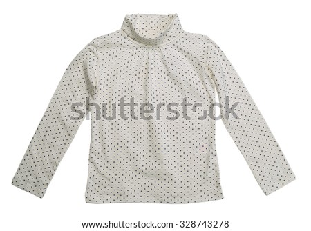 Light jacket in blue polka dots. Isolate on white. - stock photo