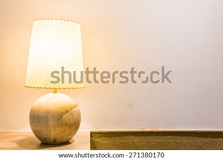 Light lamp in bed room